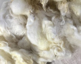 White Natural English Leicester Wool Fleece