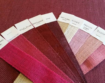 MAGENTA  Burlap Fabric By the Yard - 58 - 60 inches wide