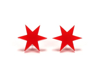 Chicago Star Earrings | Made in Chicago