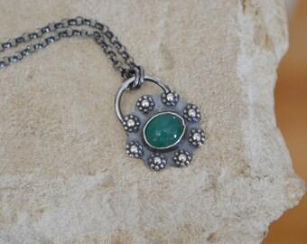 Chrysoprase Flower Necklace