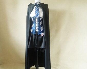 SALE Wizard black hooded cloak-black cloak only