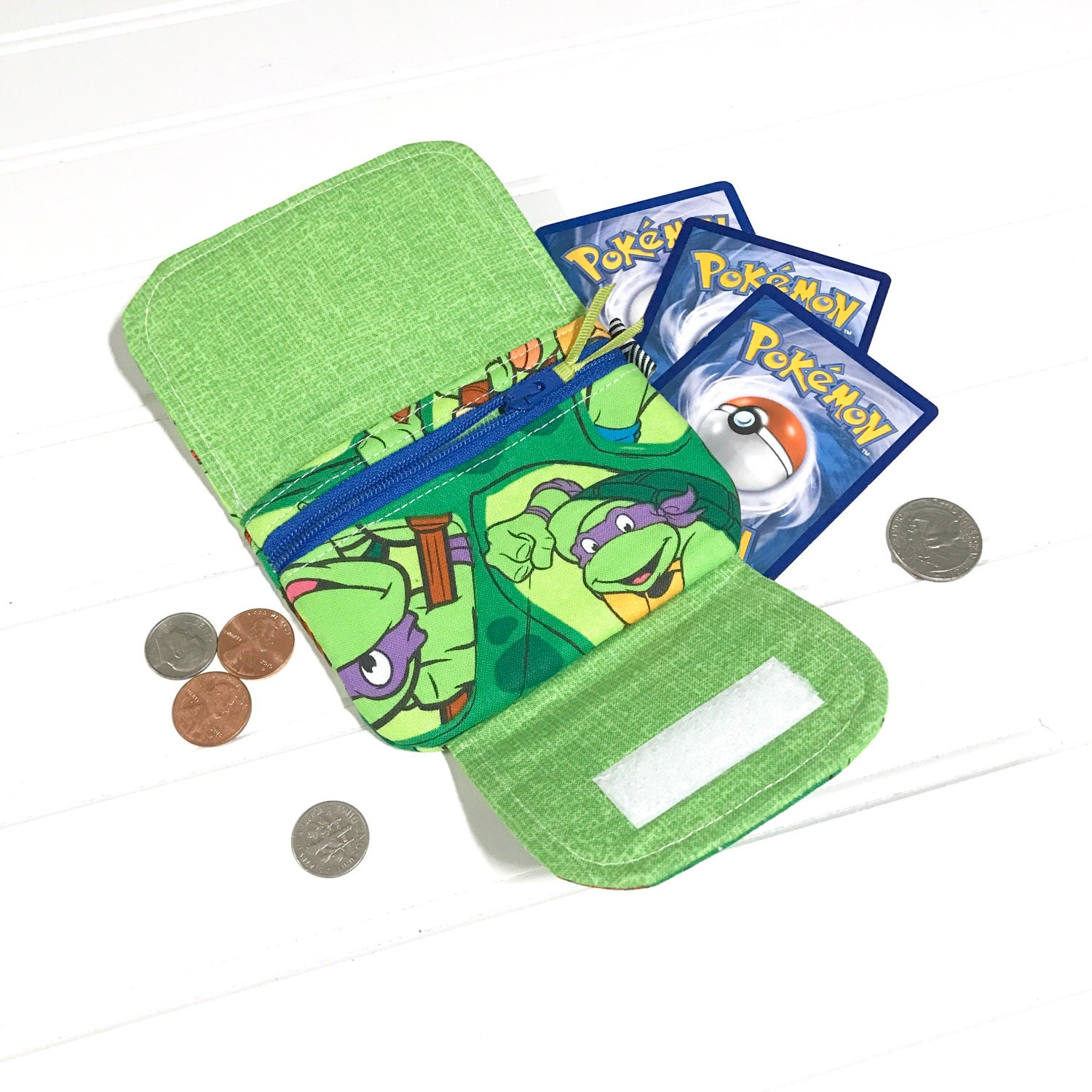 Tmnt wallet turtle wallet easter gift coin purse zipper tmnt wallet turtle wallet easter gift coin purse zipper wristlet childrens negle Choice Image