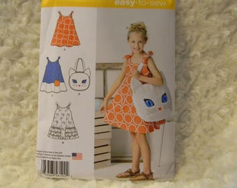 Uncut Simplicity Pattern 8102 Child's Sundress and Kitty Tote!