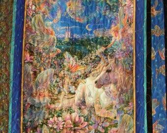 Gorgeous Dreamland Fairies Panel Cotton Fabric