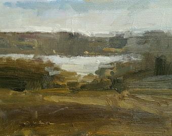 Calm Morning on the Sakonnet | Oil Painting | 4.75 x 6.75
