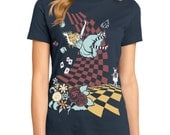 Alice in Wonderland T-shirt, Down the Rabbit Hole T-shirt, Womens graphic tee, Gift for her