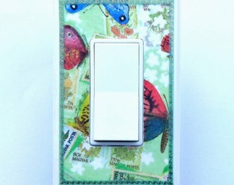 Butterfly switchplates w/ MATCHING SCREWS- Butterfly wall decoration butterfly switch covers butterfly light switch butterfly wall decor art