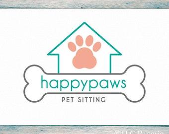Grooming Logo Design, Custom Logo, Dog Logo, Business Logo, Logo for Groomers, Pet Sitting Logo, Premade Logo Design, Custom Logo