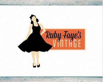 Premade Logo, Fashion Logo, Clothing Logo, Vintage Shop logo, Custom Logo, Business Logo