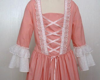 American Girl Colonial  Clothes Girls Felicity Dress Costume  Size 8/10   Buy it Now     Ready to Ship