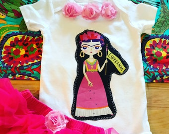 FRIDA KAHLO Esperanza Baby Girls Bodysuit and Bloomers Set NB to 18 months