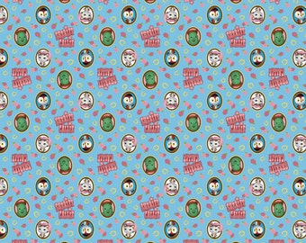 Sheriff Callie Badge Blue Cotton Woven fabric by the yard sewing quilting