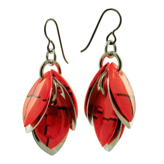 Petals to the Metal Earrings - Fall Winter Collection - Choose Your Color - 2 Inch Long