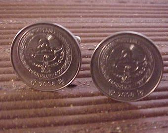Kyrgyzstan Coin Cuff Links