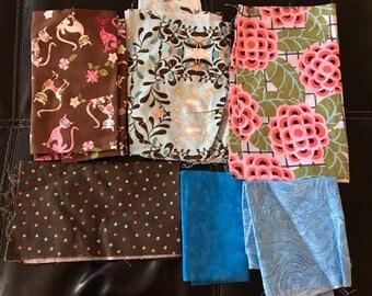 Mixed Fabric Scraps Bundle Bag #5