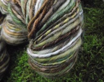 Handspun yarn,  handpainted yarn,  Falkland wool, aran light bulky yarn multiple skeins available-TREEBEARD