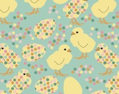 Spring Chicks Fabric - Spring Chickens By Eclectic House - Rainbow Baby Nursery Decor Cotton Fabric By The Yard With Spoonflower