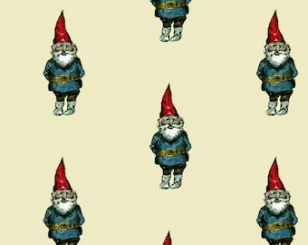 Gnome Fabric - Gnome By Taraput - Gnome Cotton Fabric By The Yard With Spoonflower