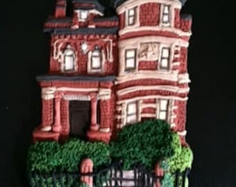 Custom City Home Ornament  - Hand Sculpted  - Architectural and Landscape Detail