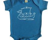 SALE 20% OFF Viking Ship Silhouette Baby Bodysuit