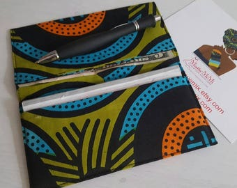 African print checkbook cover, Checkbook holder, Checkbook wallet, Womens wallet, Check book cover, Fabric checkbook cover, Gifts for women