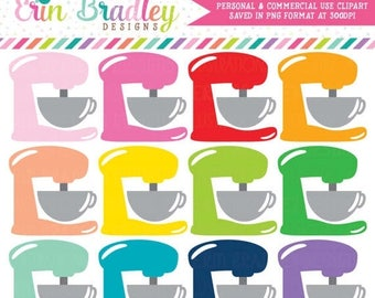 50% OFF SALE Stand Mixer Clipart Baking Clip Art Graphics Kitchen Clip Art Cooking Clipart Commercial Use OK