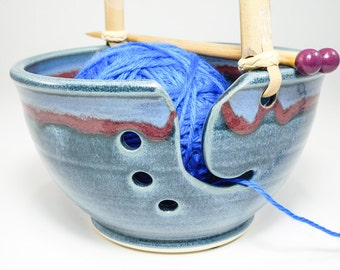 Crocheting Bowl - Crochet Yarn Bowl - Knitting Yarn Bowl - Pottery Knitting - Ceramic Knitting - Crochet Bowl - Yarn Holder - In Stock