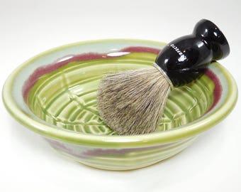 Shave Bowl - Large Wet Shaving Dish - Clay Shaving Dish - Shaving Soap Dish - Wetshave Dish - Pottery Shave Dish - Bowl For Shaving -InStock