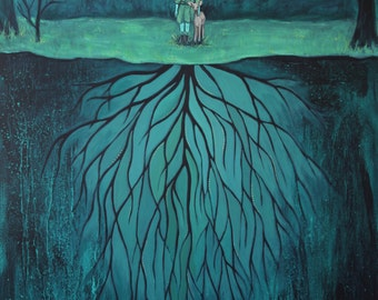 She Found A Place To Set Down Her Roots - Fine Art Print of Original Painting
