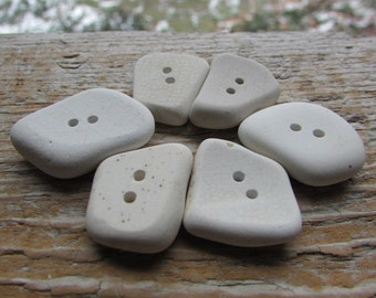 CERAMIC BUTTONS Pottery Beach Glass Buttons