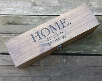 Housewarming gift box, custom wine box, wedding love letter box, memory box, first fight box, coordinate box, fifth anniversary gift