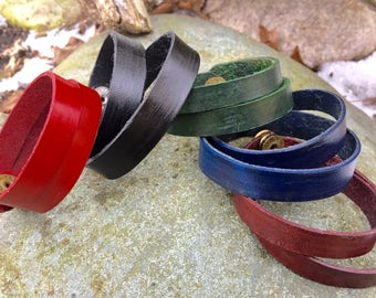 Hand-Crafted Leather Double-Wrap Bracelet