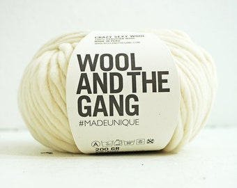 100% Peruvian wool yarn WHITE