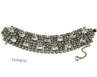 Rhinestone Bracelet Smoke Princess Cut