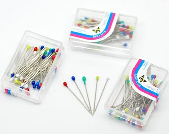 "5 boxes of Sewing Pins - 200+ pins - 1 1/8"" x 1/8"""