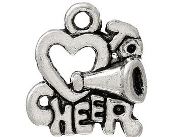 Love to Cheer Charm- Set of 10 charms - #HK1282