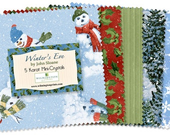 "Wilmington Print 5 Karat Mini-Gems Winter's Eve (24) 5"" Fabric Squares"