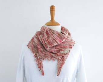 Scarf - Rose Garden.Hand Knit Scarf.Womens Scarf.