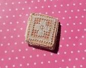 Antique Lace Vintage Lace Trim 12 Filet Lace Squares