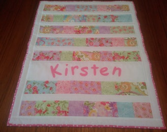 American Girl Doll Quilt Personalized for Kirsten