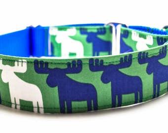 Moose Dog Collar / Moose Patrol / 1.5 inch or 2 inch Wide Dog Collar