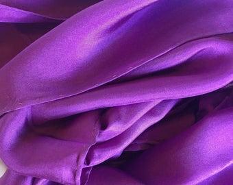 Purple Silk Scarf - Plum Purple Habotai Silk - Low Shipping Rates - Solid Color Silk Scarf