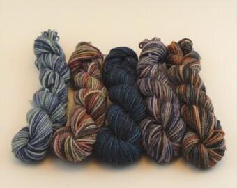 NEW Yarn of Letters Mini Sock Skein Set - Mixed Seasons Set B - 50g/200yd
