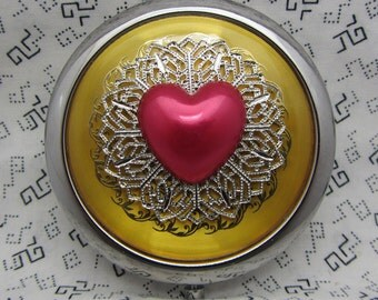 Compact Mirror Valentines Day Be Mine Comes With Protective Pouch