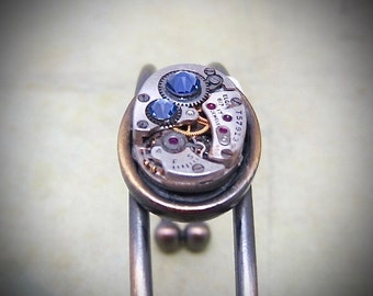 Steampunk Bracelet - In the Works - Steampunk watch parts cuff - bracelet - Repurposed art made by Steampunkjunq - steampunk jewelry