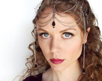 Black and Silver Headpiece