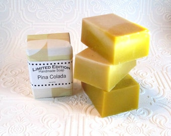 Pina Colada Soap, Handmade Soap, Gentle soap recipe, block shape, pineapple coconut soap scent
