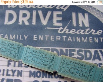 ON SALE Vintage Antique  Drive In Theatre Tickets