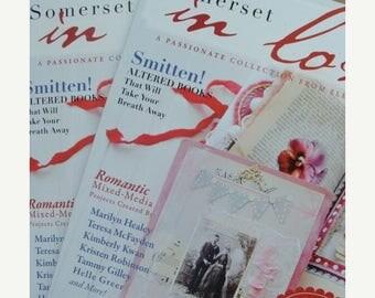 ON SALE Amazing Inspiration Stampington Somerset Life , Vintage Valentines In Love