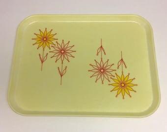 Vintage 60s 70s Fiberglass Cambro Camtray flowers tray
